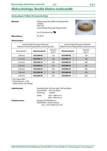 Mehrschichtige, flexible Elektro-Isolierstoffe