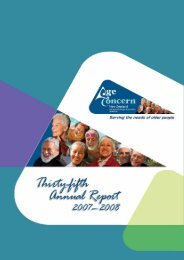 National President's Report - Age Concern New Zealand