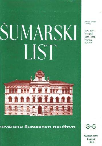 ÅUMARSKI LIST 3-5/1992 - HÅD