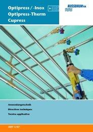 Optipress/-Inox Optipress-Therm Cupress - R. Nussbaum AG