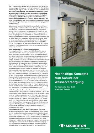 Anwendung Stadtwerke Bühl - Securiton GmbH