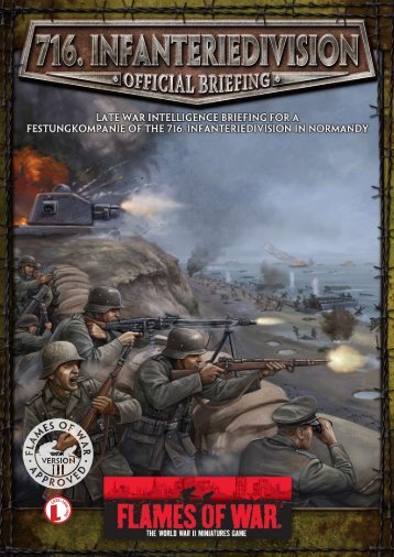 716. Infanteriedivision Intelligence Briefing... - Flames of War