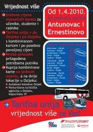 Informacije: 060 33 44 66 panturist@panturist.hr - Veolia Transport