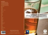 Interventions to reduce alcohol-related harm - World Health ...