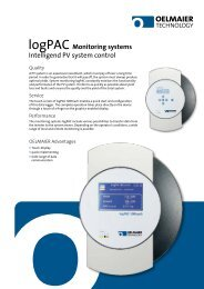 logPAC Monitoring systems Intelligend PV system control