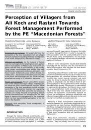 Perception of Villagers from Ali Koch and Rastani Towards Forest ...