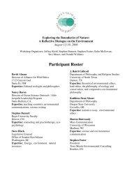 2006 Session 2 Short Roster - Aspen Global Change Institute