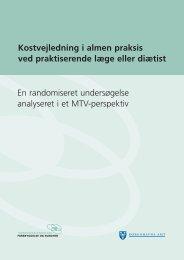 Kostvejledning i almen praksis ved praktiserende læge eller diætist ...