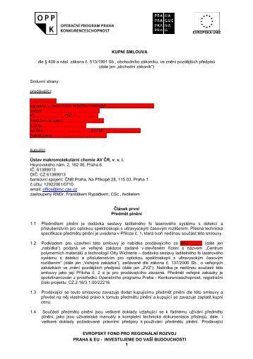 INVESTUJEME DO VAŠÍ BUDOUCNOSTI 1 ... - Fondy EU v Praze