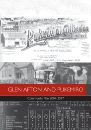 Glen Afton and Pukemiro Community Plan - Waikato District Council