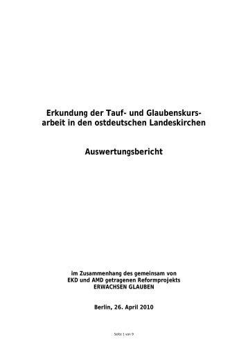 Erkundung der Tauf- und Glaubenskurs - Kurse-zum-glauben.org