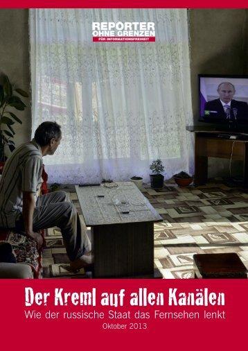 Der Kreml auf allen Kanälen - Reporter ohne Grenzen