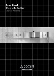 Axor Starck ShowerCollection Shower Planning - Hansgrohe