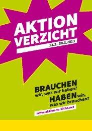 Aktion Verzicht 2013