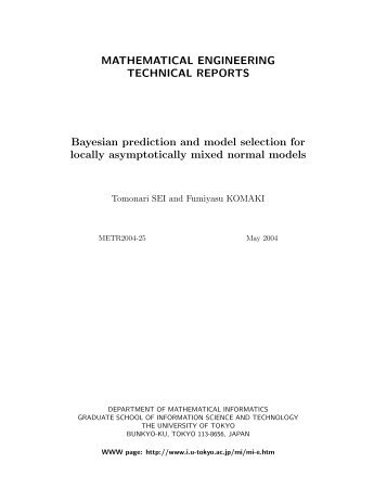 Bayesian prediction and model selection for locally asymptotically ...