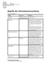 Glossar Informationsverwaltung - Staatsarchiv - Kanton Zürich