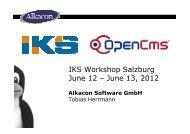 Alkacon IKS Workshop Presentation - June 2012