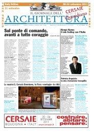 Il Giornale dell'Architettura - Speciale Cersaie 2011 (21 set 2011)