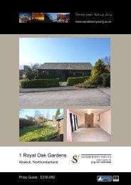 1 Royal Oak Gardens - Sanderson Young