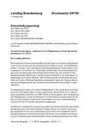 Verockerung der Spree - Gefahren für die Fließgewässer und den ...