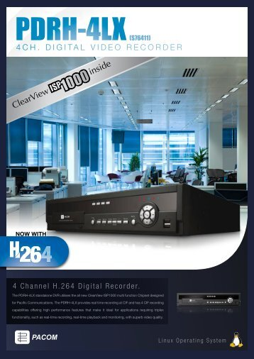 4CH. DIGITAL VIDEO RECORDER - Pacific Communications
