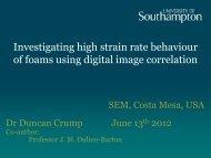 Investigating high strain rate behaviour of foams using digital image ...