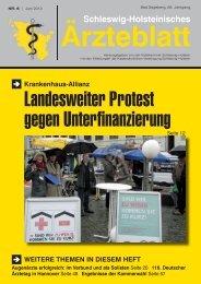 Aktuelle Ausgabe > 4 MB - Schleswig-Holsteinisches Ärzteblatt