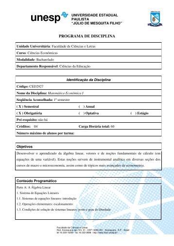 2012 - Faculdade de Ciências e Letras - Unesp