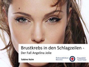 Brustkrebs in den Schlagzeilen - Rotkreuzklinikum München