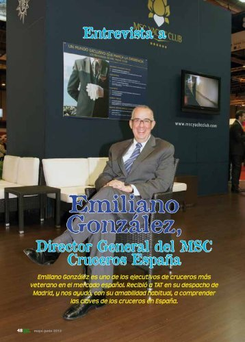 Emiliano González, director general de MSC. - TAT Revista