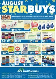 Offer valid 1st August - 28th August 2011 - Coral Coast Pharmacies
