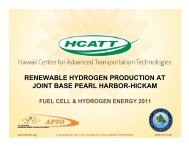 renewable hydrogen production at joint base pearl harbor-hickam