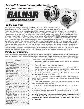 Digital duo charge installationoperation balmar 24 volt alternator installation operation manual balmar asfbconference2016 Gallery