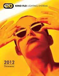 Complete Kino Flo Catalog 2012 3.5 MB