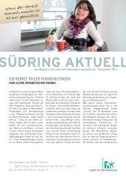 Südring Aktuell November 2013 - Leben mit Behinderung Hamburg