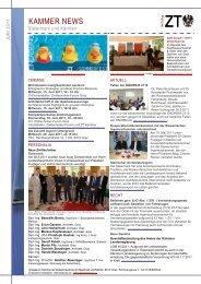 Newsletter - Kammer der ZiviltechnikerInnen für Steiermark und ...