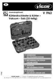 V1963 Kühldrucktester - Vigor Equipment