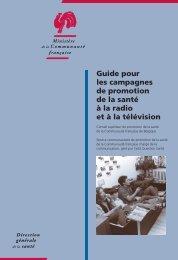 Guide pour les campagnes de promotion de la santé à la radio et à ...