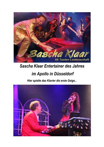Sascha Klaar Entertainer des Jahres im Apollo in ... - VIP-NEWS