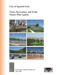 City of Spanish Fork Parks, Recreation, and Trails Master Plan Update