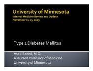 Type 1 Diabetes Mellitus - University of Minnesota Continuing ...