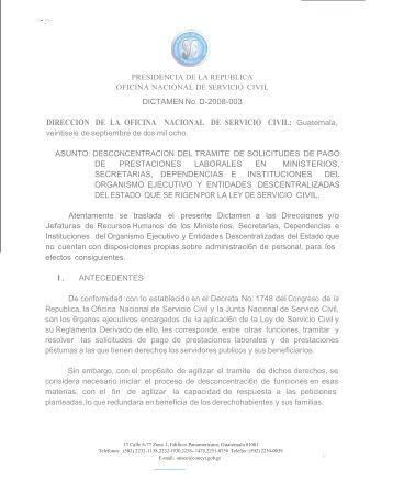 Oficio circular no d 2009 051 onsec for Direccion de la oficina