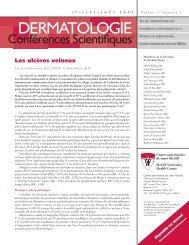 Les ulcères veineux - Dermatologie conférences scientifiques