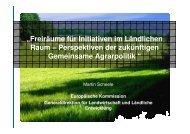 Freiräume für Initiativen im Ländlichen Raum - Zukunftsforum ...