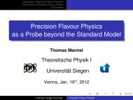 Precision Flavour Physics as a Probe beyond the Standard Model