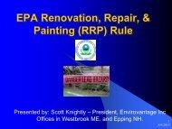EPA Renovation, Repair, & Painting (RRP) Rule