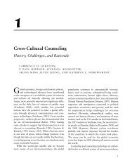 Cross-Cultural Counseling: History - Sage Publications