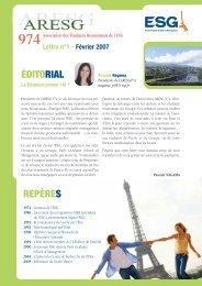 lettre réunion - Pôle ESG