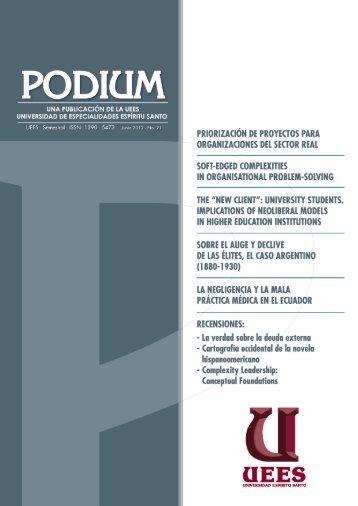 revista podium no. 21 junio 2012 - Universidad de Especialidades ...