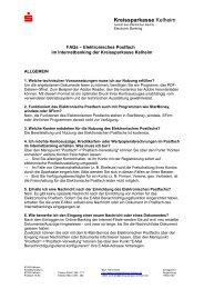FAQs zum Elektronischen Postfach - Kreissparkasse Kelheim